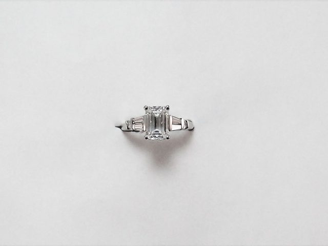 1.84ct Emerald cut diamond ring, GIA #2151284809 SI-2, Color I